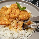 recette Gambas au Curry au Thermomix