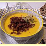 recette Velouté de Potiron, Carottes, oignons et lait de coco