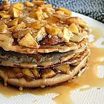 recette Gâteau de crêpes aux pommes et poires, bio {sans gluten / sans oeufs / végétarien}