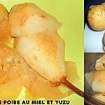 recette POMME POIRE CUITES AU MIEL ET YUZU
