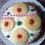 recette Gâteau fourré à l'ananas-custard