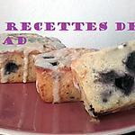 recette Petits gâteaux chocolat blanc myrtilles