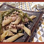 recette Penne aux haricots verts et thon