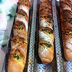 recette pain baguette a l'ail + beurre+persil