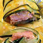 recette Ballotins de courgettes et saumon en papillote - thermomix -