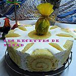 recette Gâteau de Pâques (chocolat blanc-ananas-passion)