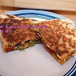 recette Quesadillas au poulet et poivrons