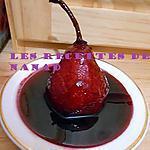 recette Poire pochée au vin rouge épicé