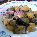 recette Poulet aux pommes de terre et aubergines
