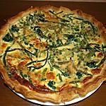 recette Quiche light aux légumes verts.