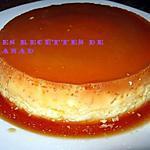 recette Flan vanille sur océan caramel