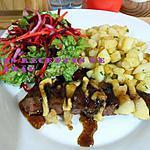 recette Magret de canard aux pommes, sauce miel-balsamique