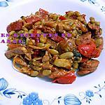 recette Mes flageolets épicés à la saucisse et aux légumes