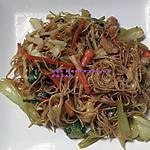 recette Mee foon(vermicelles de riz) frit