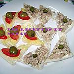 recette Canapés thon-estragon,tomate-olive