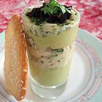recette Verrines de poisson aux herbes