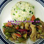recette Poulet aigre doux et riz sauté 1