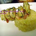 recette Brochettes de crevettes épicées