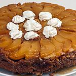 recette Gâteau renversé aux poires et à la farine de châtaignes