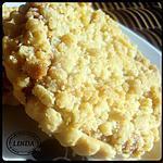 recette Tarte crumble framboise-groseille.