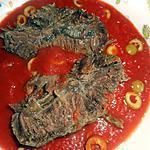recette Paleron de boeuf sauce tomates aux olives vertes