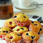 recette Muffin aux framboises, myrtilles et mascarpone