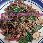 recette Nouilles sautées aux légumes (mines frites)