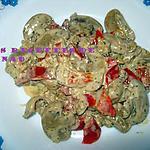 recette Fruits de mer et poivrons à la crème