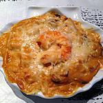 recette Coquilles de poisson et crevettes sauce Nantua -thermomix-