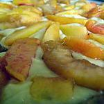 recette Tarte aux pêches et nectarines