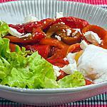 recette Poivrons grillés à l'oeuf