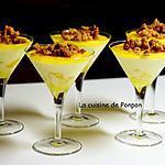 recette Panna cotta à la mangue garnie d'un crumble d'avoine