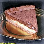 Tarte à la mousse au chocolat sur lit fondant au citron