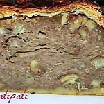 recette Pain de viande en croûte fourré aux chataignes
