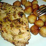 recette Escalope de dinde (  mariner sauce grec)