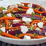 recette Salade de petit épeautre aux carottes, betterave et fêta