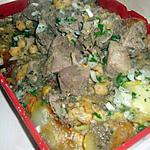 recette kbab kssantini (gratin pdt au mouton )