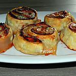 recette Roulés aux jambon à l'os et aux jambon Corse-mozzarella-tomate