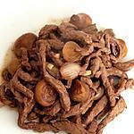 recette Emincé de boeuf mariné aux oignons
