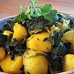 recette Pommes de terre épinards à l'indienne