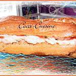 recette Eclairs au jambon, fromage frais et carottes râpées