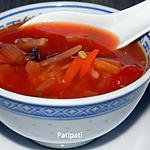 recette Potage piquant aux légumes