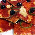 recette pizza carré a la semoule