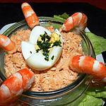 recette Terrine de saumon, de scampis et oeufs