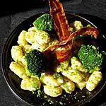 recette Gnocchis au gorgonzola, brocolis et chips de lard