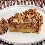 recette Tarte aux poires, châtaignes, chocolat et amandes