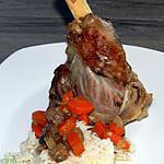 recette Souris d'agneau aux carottes et champignons