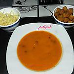 recette Velouté de potiron aux carottes et lardons avec ses accompagnements