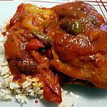 recette Cuisse de poulet basquaise facile