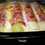 recette Roulades de poireaux gratinés à la mozzarella-gruyère